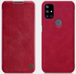 Чехол Nillkin Qin Leather Case для OnePlus Nord N10 Red/Красный