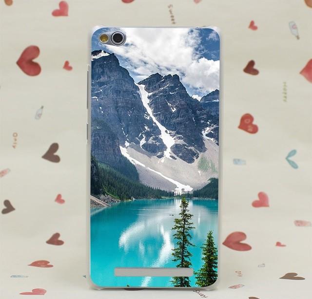 """Накладка пластиковая для Xiaomi Redmi 3 Pro с рисунком """"Озеро в горах"""""""