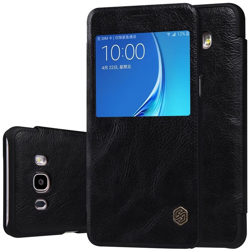 Чехол Nillkin Qin Leather Case для Samsung Galaxy J5 (2016) J510 Black (черный)