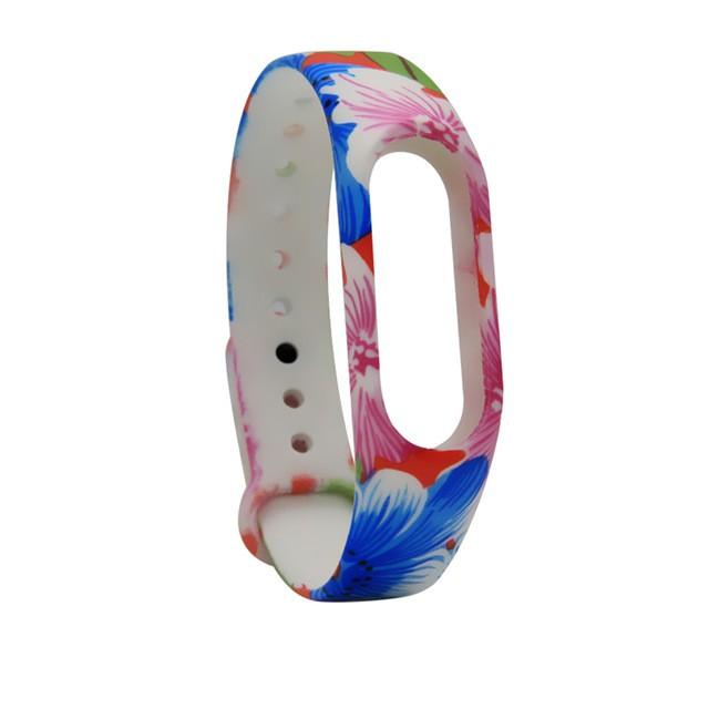 """Ремешок для браслета Xiaomi Mi Band 2 с рисунком """"Цветы 3"""""""