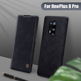 Чехол Nillkin Qin Leather Case для OnePlus 8 Pro Black (черный)