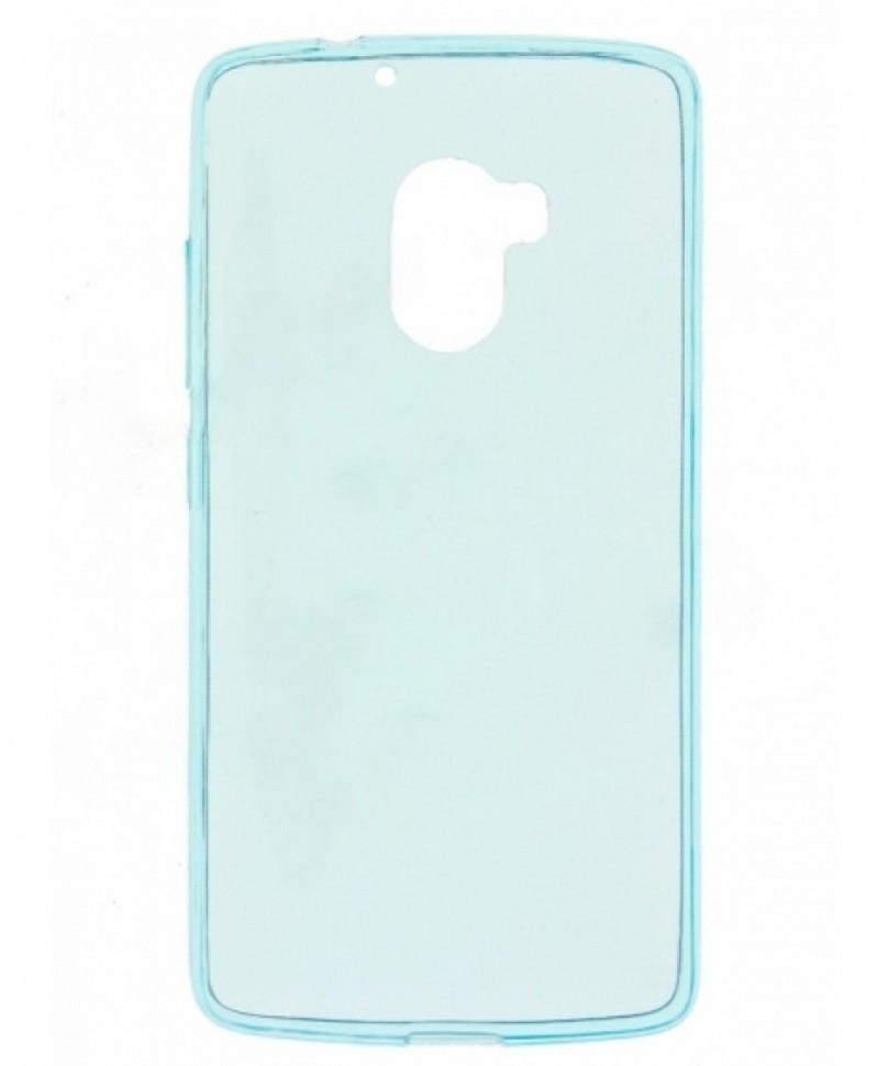 Накладка силиконовая для Lenovo K4 Note (A7010/Vibe X3 lite) прозрачно-голубая