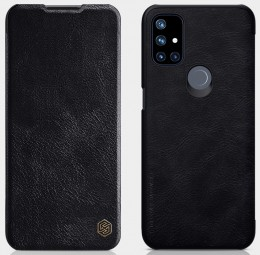 Чехол Nillkin Qin Leather Case для OnePlus Nord N10 Black/Чёрный