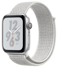 Apple Watch Series 4 GPS 44mm Silver Aluminum Case with Summit White Nike Sport Loop (MU7H2) Серебристый/Северная вершина