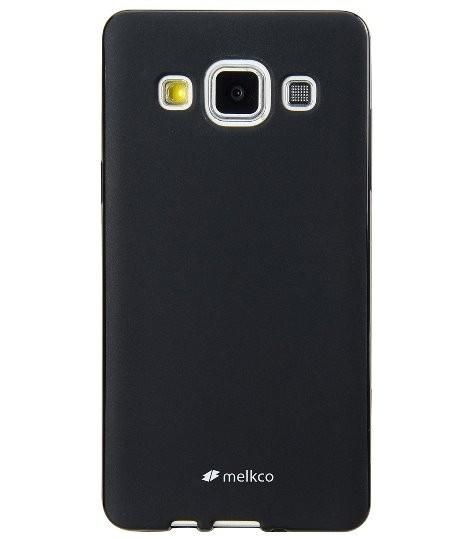 Накладка Melkco Poly Jacket силиконовая для Samsung Galaxy A5 A500 Black Mat (черная)