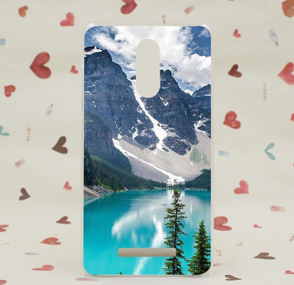 """Накладка пластиковая для Xiaomi Redmi Note 3 с рисунком """"Озеро в горах"""""""