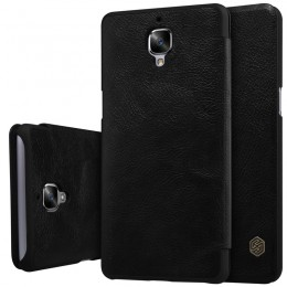 Чехол Nillkin Qin Leather Case для OnePlus 3 Black (черный)