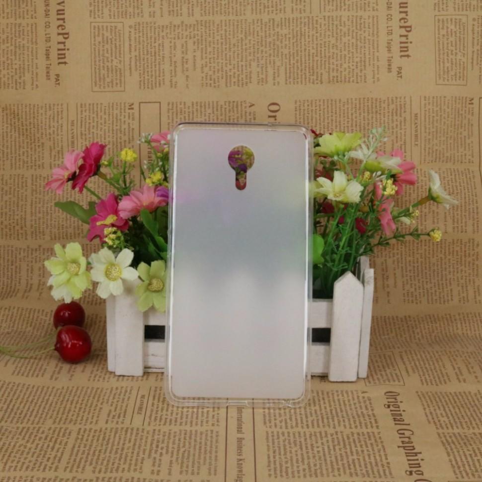 Накладка KissWill силиконовая для Meizu M3 Max прозрачно-белая