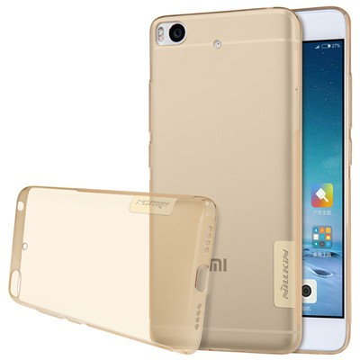 """Накладка Nillkin Nature TPU Case силиконовая для Xiaomi Mi5S (5.15"""") прозрачно-золотая"""