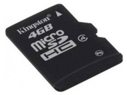 Карта памяти Kingston Micro SD 4Gb Class 4 с адаптером SD