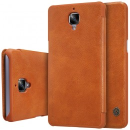 Чехол Nillkin Qin Leather Case для OnePlus 3 Brown (коричневый)