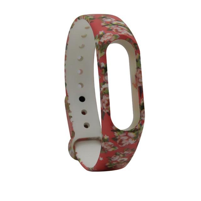 """Ремешок для браслета Xiaomi Mi Band 2 с рисунком """"Цветы 7"""""""