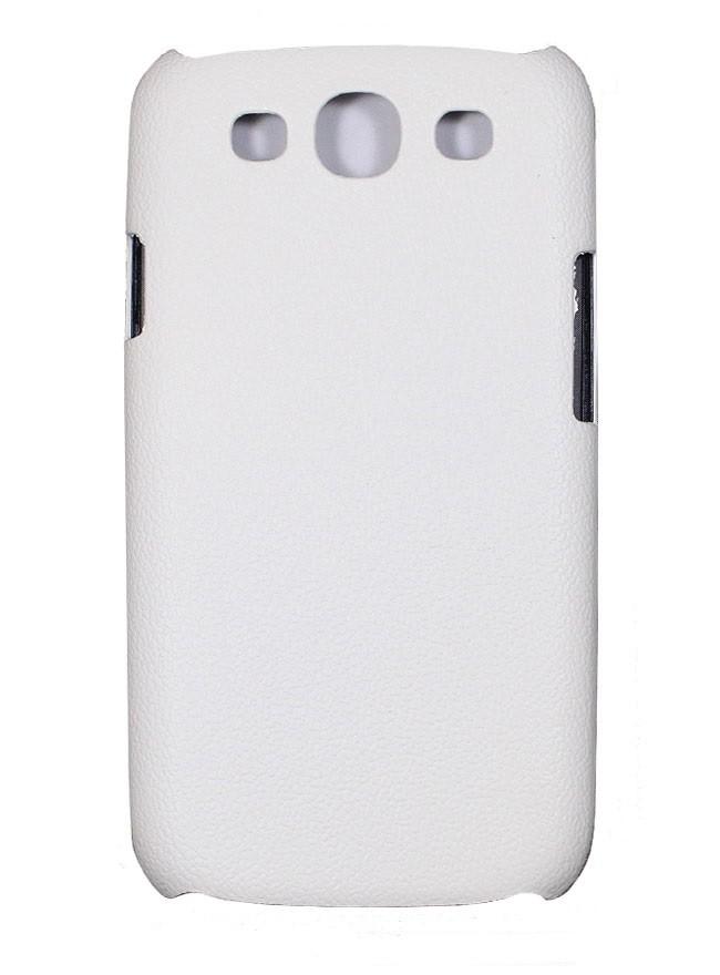 Накладка Jekod пластиковая для Samsung Galaxy S3 i9300 под кожу белая + пленка