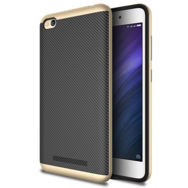 Накладка Hybrid силикон + пластик для Xiaomi Redmi 4A золотая
