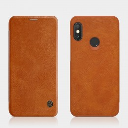 Чехол Nillkin Qin Leather Case для Xiaomi Redmi Note 6 Pro Brown (коричневый)