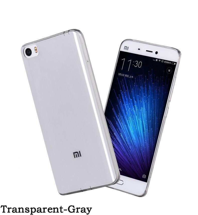 """Накладка силиконовая для Xiaomi Mi5 (5,15"""") прозрачно-черная"""