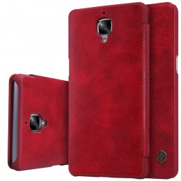 Чехол Nillkin Qin Leather Case для OnePlus 3 Red (красный)