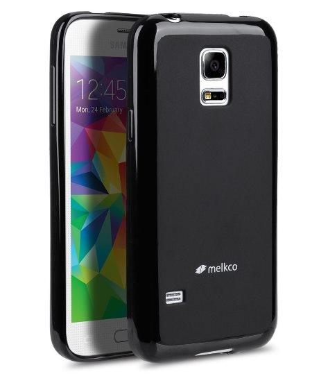 Накладка Melkco силиконовая для Samsung Galaxy S5 mini G800 черная