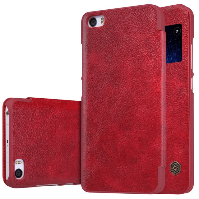 Чехол Nillkin Qin Leather Case для Xiaomi Mi5 Red (красный)