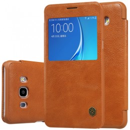 Чехол Nillkin Qin Leather Case для Samsung Galaxy J7 (2016) J710 Brown (коричневый)