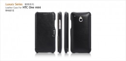Чехол iCarer Leather Case для HTC One mini Black (черный)