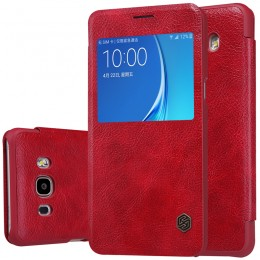 Чехол Nillkin Qin Leather Case для Samsung Galaxy J7 (2016) J710 Red (красный)