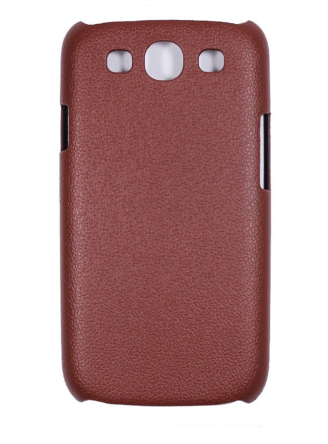 Накладка Jekod пластиковая для Samsung Galaxy S3 i9300 под кожу коричневая + пленка