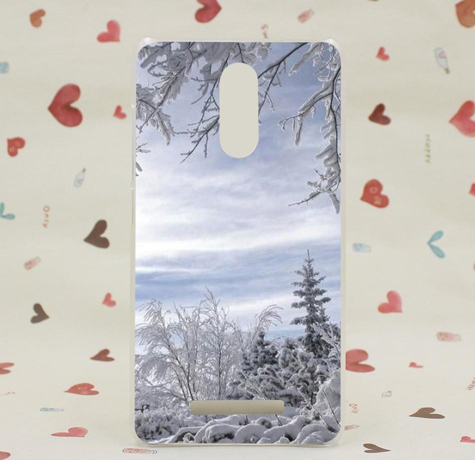 """Накладка пластиковая для Xiaomi Redmi Note 3 с рисунком """"Деревья в снегу"""""""