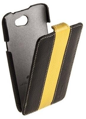 Чехол Melkco для HTC One X Black/Yellow