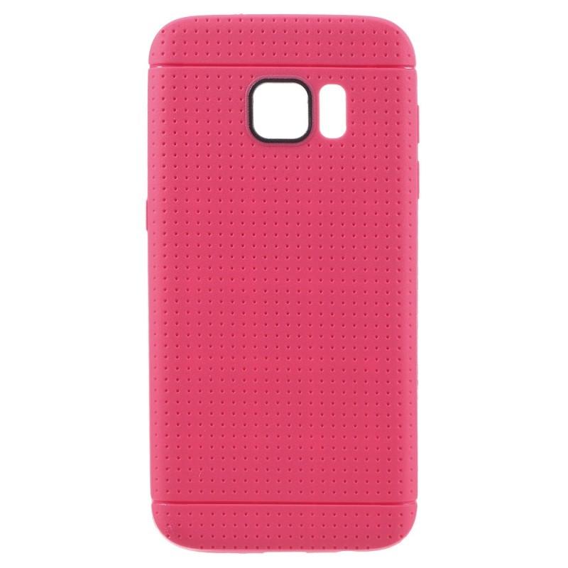 Накладка силиконовая с точками для Samsung Galaxy S7 SM-G930 малиновая