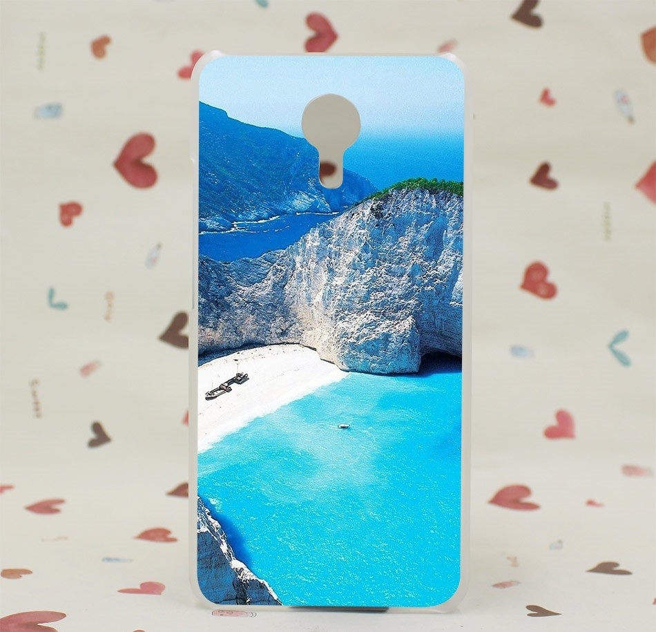 """Накладка пластиковая для Meizu M3 Note с рисунком """"Голубая лагуна"""""""