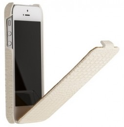 Чехол Borofone Crocodile Leather case White для iPhone 5