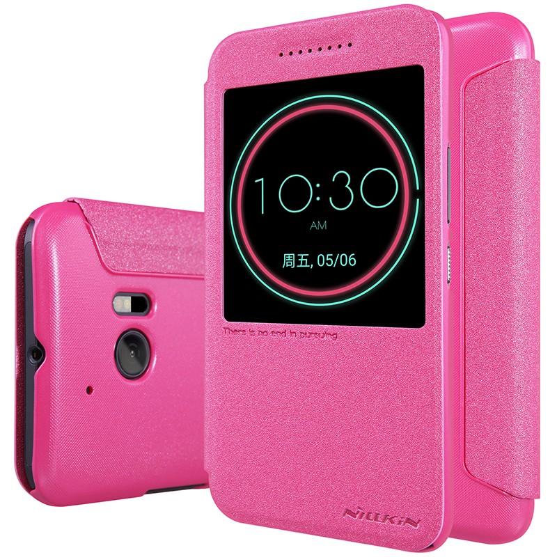 Чехол Nillkin Sparkle Series для HTC One 10 (M10/Lifestyle) Rose (малиновый)