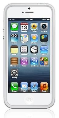 Бампер для Apple iPhone 5 Bumpers белый