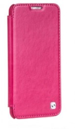Чехол HOCO Crystal Leather Case для LG Optimus G2 D802 Rose (малиновый)