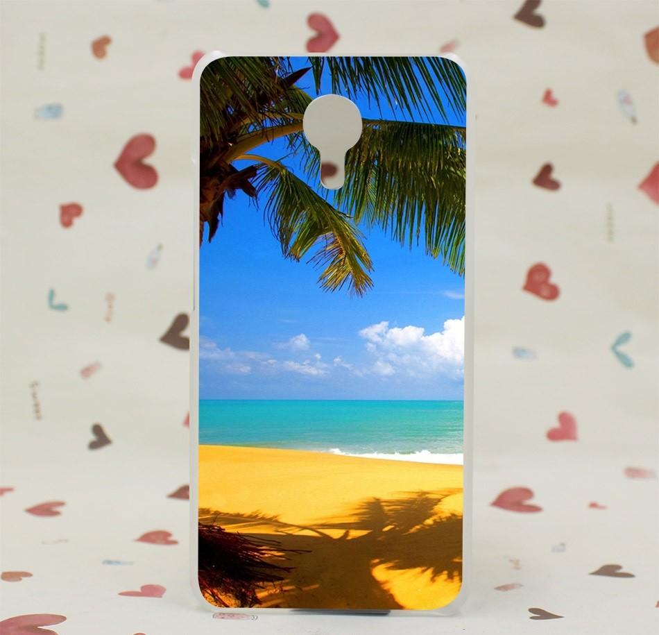 """Накладка пластиковая для Meizu M3 Note с рисунком """"Солнечный пляж"""""""