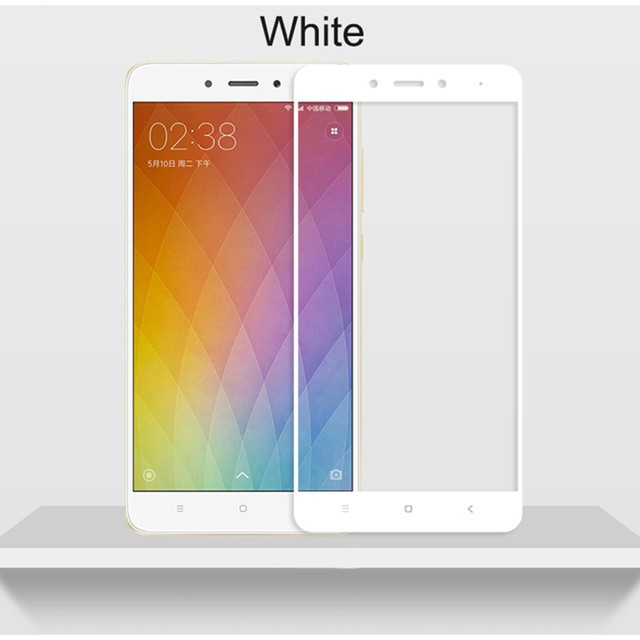 Защитное стекло для Xiaomi Redmi Note 4 полноэкранное белое
