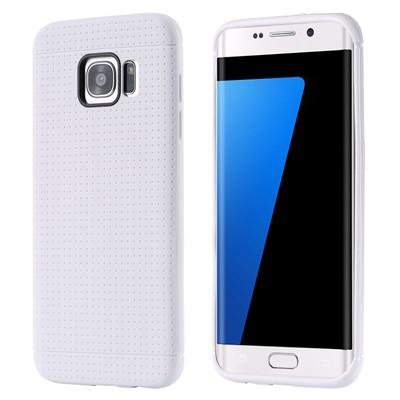 Накладка силиконовая с точками для Samsung Galaxy S7 Edge SM-G935 белая