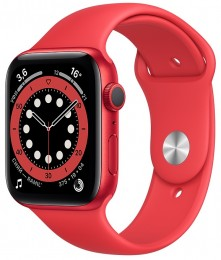 Apple Watch Series 6 GPS 44mm Aluminum Case with Sport Band Red (M00M3)