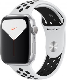 Apple Watch Series 5 GPS 44mm Silver Aluminum Case with Nike Sport Band (MX3V2)