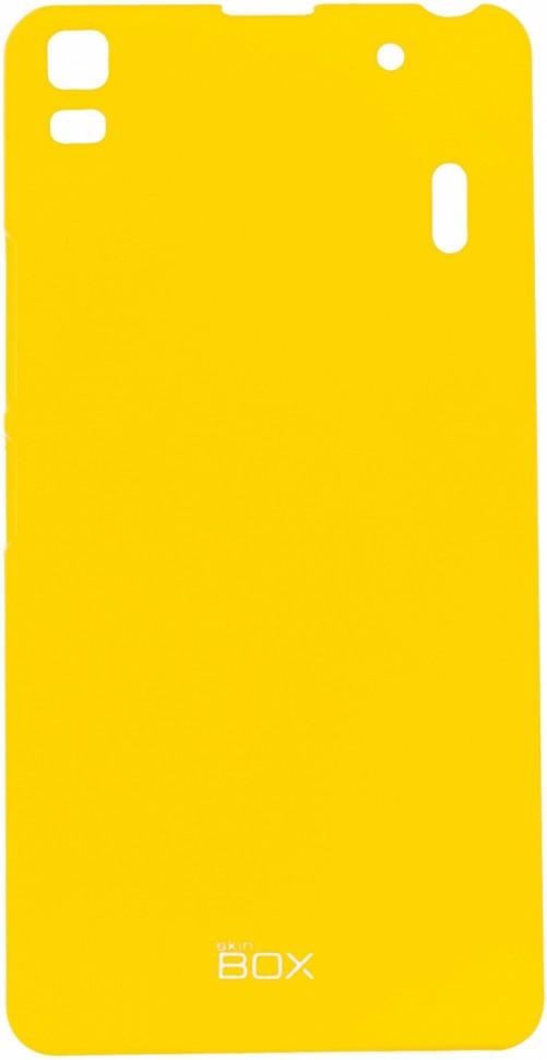 Накладка Skinbox 4People пластиковая для Lenovo K3 Note (A7000) желтая