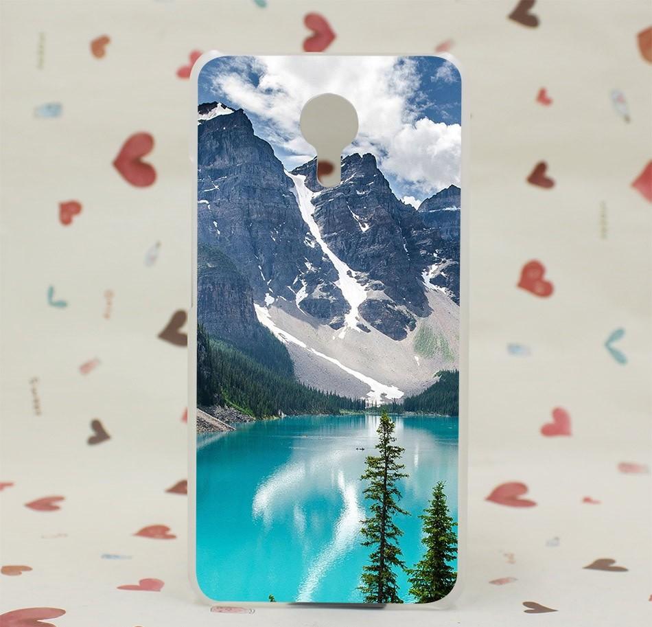 """Накладка пластиковая для Meizu M3 Note с рисунком """"Озеро в горах"""""""