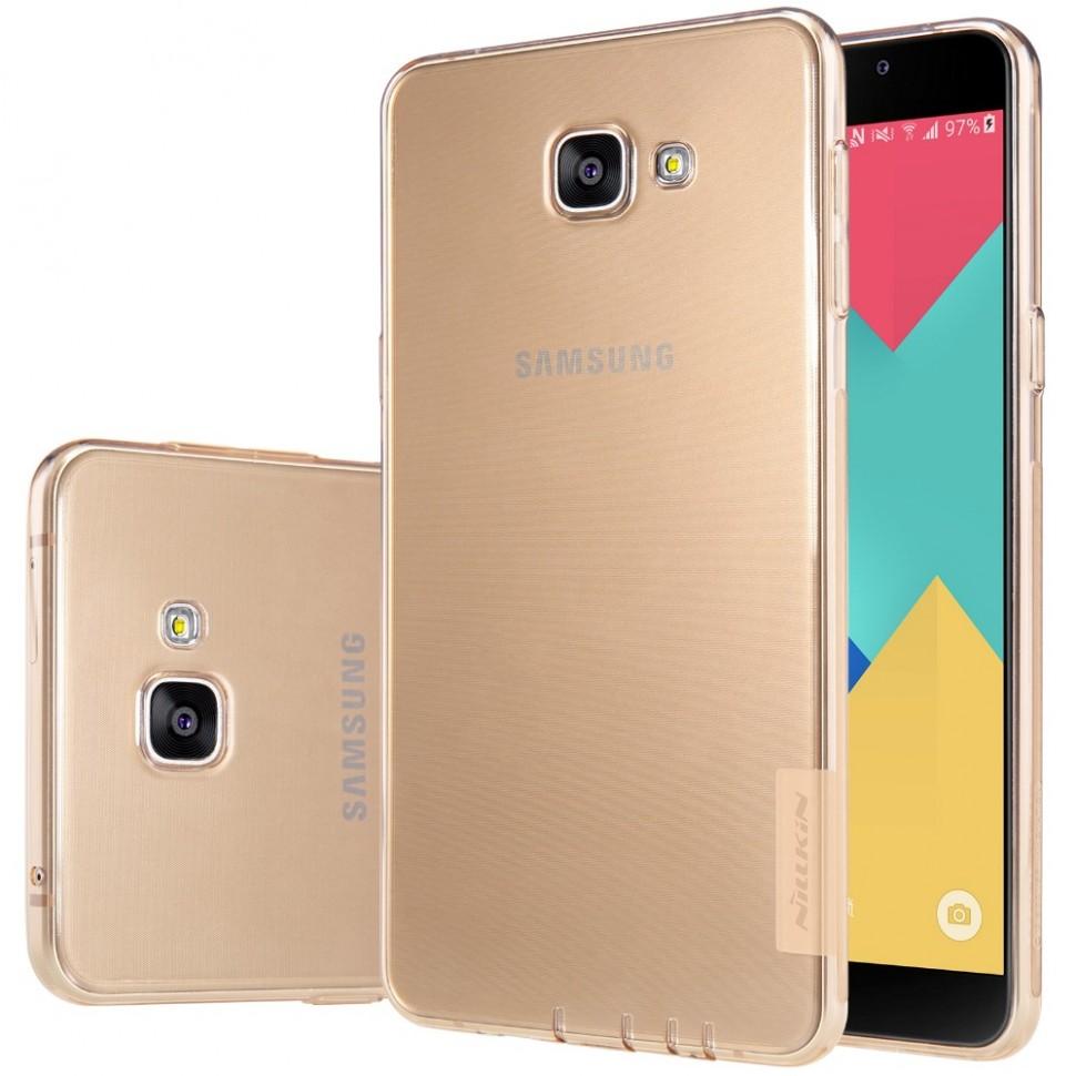Накладка Nillkin Nature TPU Case силиконовая для Samsung Galaxy A9 (A9000) прозрачно-золотая