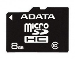 Micro SD 8Gb Class 10 A-DATA с адаптером SD
