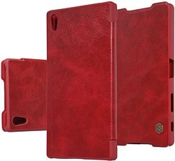 Чехол Nillkin Qin Leather Case для Sony Xperia Z5 Premium Red (красный)