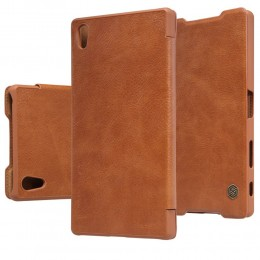 Чехол Nillkin Qin Leather Case для Sony Xperia Z5 Premium Brown (коричневый)