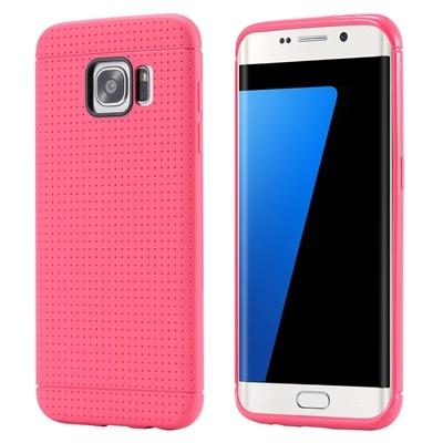 Накладка силиконовая с точками для Samsung Galaxy S7 Edge SM-G935 малиновая