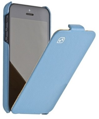 Чехол HOCO Leather case для iPhone 5 Blue