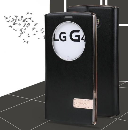 Чехол Usams Muge Series Window View для LG G4 Black