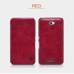 Чехол Nillkin Qin Leather Case для Sony Xperia E4 Red (красный)